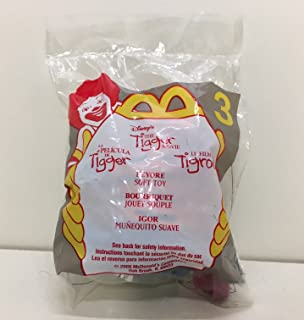 McDonald's 2000 Happy Meal Toy Walt Disney : The Tigger Movie #3 Eeyore The Donkey Plush Keychain