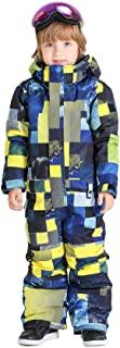 GSOU SNOW 2019 Boys Girls Printed One Piece Windproof Waterproof Insulated Snowsuits