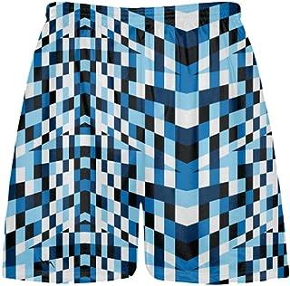 LightningWear Fruitcake Blocks Blue Lacrosse Shorts - Mens Boys Lacrosse Shorts