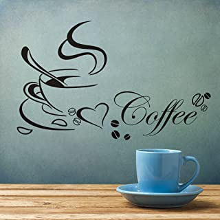 Coffee Cup Carved Simple Wall Stickers Art Decor Mural Room Decals Sticker