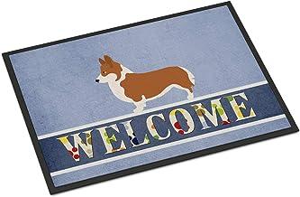 Caroline's Treasures AIDI Atlas Mountain Dog Christmas Doormat 18hx27w Multicolor, Welcome, 18 x 27