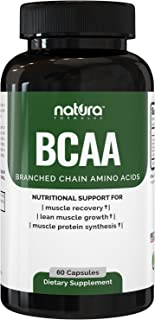 Natura BCAA Capsules - All Natural BCAAs for Recovery and Muscle Growth - Clean Branched Chain Amino Acids - Essential 2:1...