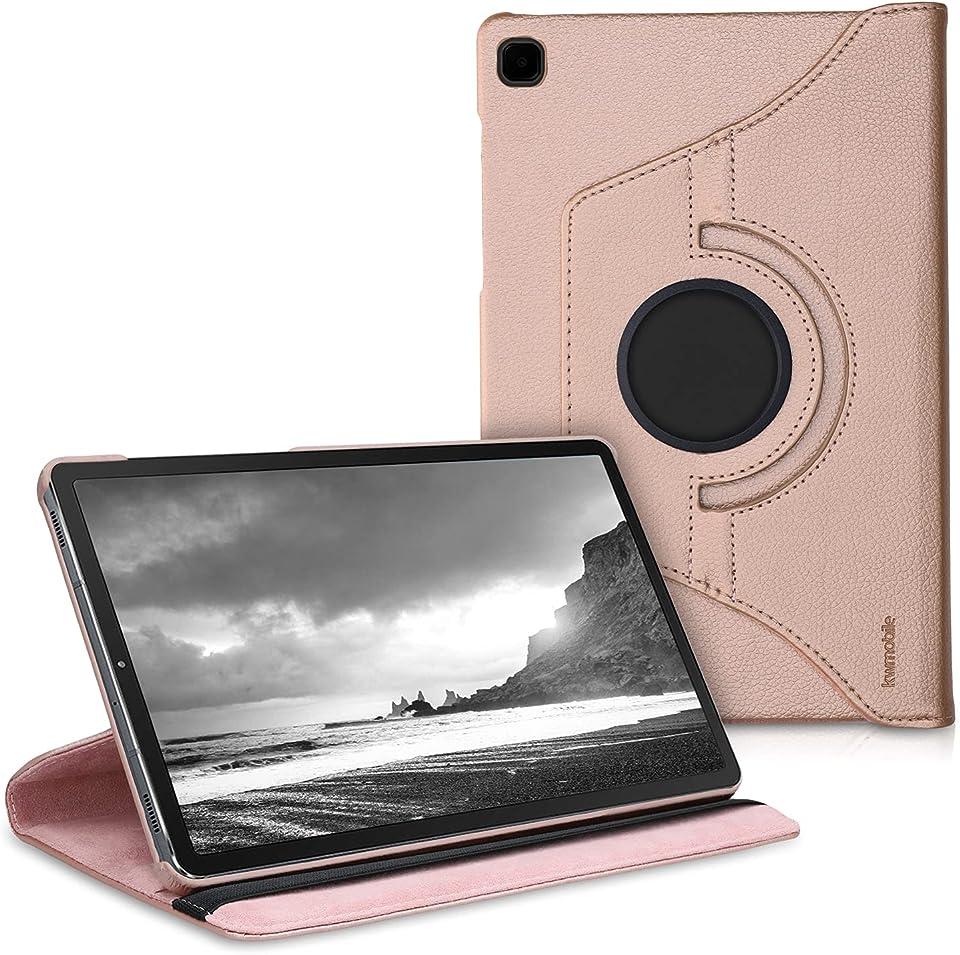 kwmobile Hülle kompatibel mit Samsung Galaxy Tab S6 Lite - 360° Tablet Schutzhülle Cover Case Rosegold
