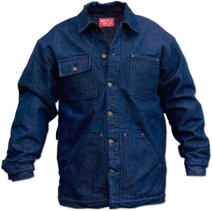 Wild Ass Lined Denim Chore Coat Rigid Blue 2X