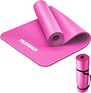 Tenboom Thick Yoga Mats for Women and Man, 10mm No Slip...