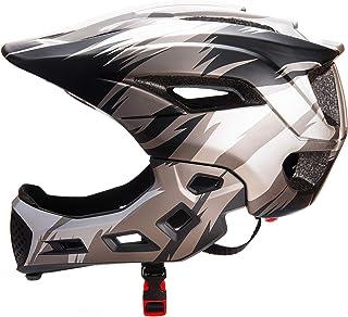 Natuway キッズ 自転車 ヘルメット 取り外し可能 フル フェイス ヘルメット サイクリング スクーター スケートボード用 BMX バイク ローラー スケート用 保護 ギア