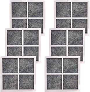 HiWater 6 Pack LT120F Refrigerator Air Filter Replacement for Kenmore Elite 469918, ADQ73214402, ADQ73214404