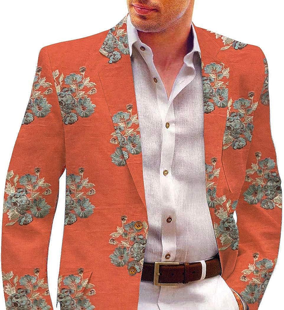 INMONARCH Rust Mens Blazer Embroidered Sport Jacket Coat SBM1010
