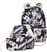 Joymoze Cute School Backpack for Girl Stylish Backpack Set 3 Pieces for Women