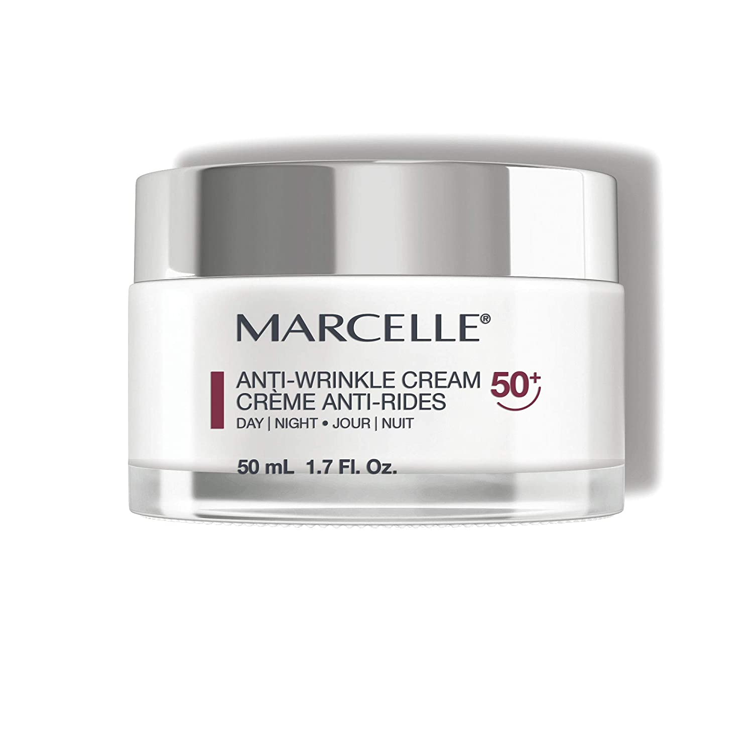 MARCELLE Anti-Wrinkle Cream, Ages 50+, 1.7 ounces
