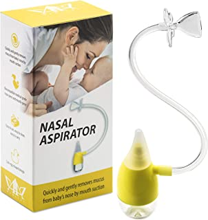 Baby Nasal Aspirator Snot Sucker – Easy Baby Mucus Relief & Decongestion – Ultra Safe Kids Nasal-Oral Cleaner – Softer & More Convenient – Easy to Clean – Superior Alternative to Bulb