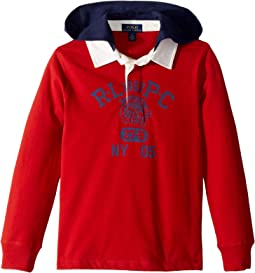 Cotton Jersey Hooded Rugby (Little Kids/Big Kids)