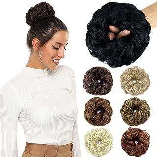 ROSEBUD Hair Bun Extensions Messy Synthetic Chignon Hairpiece Easy Bun Hair Pieces for..