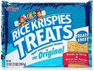 32oz Kellogg's Rice Krispies Treats Original Fun Sheet, Crispy Marshmallow, Large, Pack of 1