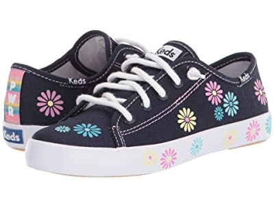 Keds Kids Kickstart Seasonal (Little Kid/Big Kid) (Navy Daisy 1) Girl