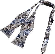 Dan Smith Men's Fashion Multicolored Patterns Microfiber Self-tied Bow Tie With Free Gift Box