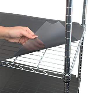 """Houseables Wire Shelf Liner, Plastic, Non Adhesive, 14""""x30"""", 5 Pk, Clear/Gray, Utility Rack Protector, Mats for Drawers, Kitchen Cabinet, Tier Shelving Unit, Cupboard, Heavy Duty, Nonslip, Waterproof"""