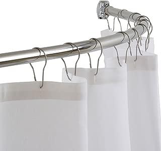 DIAMOND USA Curved Shower Curtain Rod, 54
