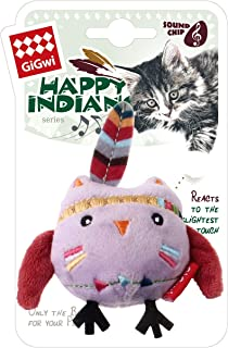 Gigwi Happy Indians Melody Chaser Owl Cat Toy
