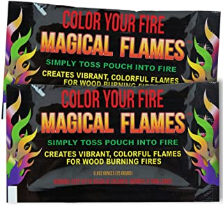 Sponsored Ad - Magical Flames 25-Pack: Twice The Color, Half The Price! Creates Vibrant, Rainbow Colored Flames