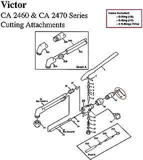 Victor CA1050 CA1060 CA2460 CA2470 Cutting Torch O-ring Rebuild/Repair Kit