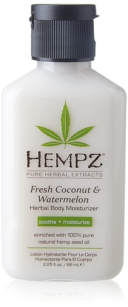 バン実質的ショートカットHempz Herbal Body Moisturizer, Pearl White, Fresh Coconut/Watermelon, 2.25 Ounce by Hempz