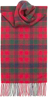 USA Kilts Robertson Red Tartan Wool Scarf Made in Scotland