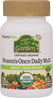 NaturesPlus Source of Life Garden Certified Organic Women's Once Daily Multivitamin - 30 Vegan Tablets - Pure, Natural Who...
