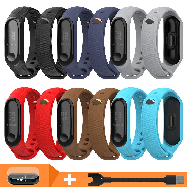 Pulsera Correas para Xiaomi Mi Band 3 Mi Band 4, Cable USB y Películas Pantalla Accesorios y Correa para Xiaomi Mi Band 4 Mi Band 3 (6PCS & Cable & Protector Pantalla): Amazon.es: Electrónica
