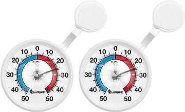 Tfa Dostmann Twatcher Xl Analoges Fensterthermometer Leichte Montage Mit Saugna