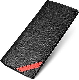 財布 メンズ 長財布 二つ折り 薄い さいふ 本革 紳士 16枚カード 2つ折り財布(MARRY)