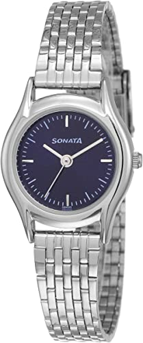 Sonata Essentials Analog Blue Dial Women's Watch NM87020SM01/NN87020SM01