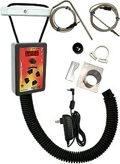 IQ120 BBQ Temperature Regulator Kit with Small Adjustable Kamado Pit Adapter for Big Green Egg (Small, Mini), Char-Griller Akorn, Kamado Joe Jr., and Many Other Small Kamado Smokers