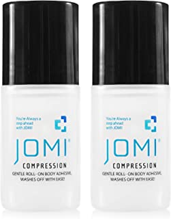 JOMI COMPRESSION Roll On Body Adhesive, Sweat Resistant, Washes Off With Ease 2 Ounces (2 Pack)