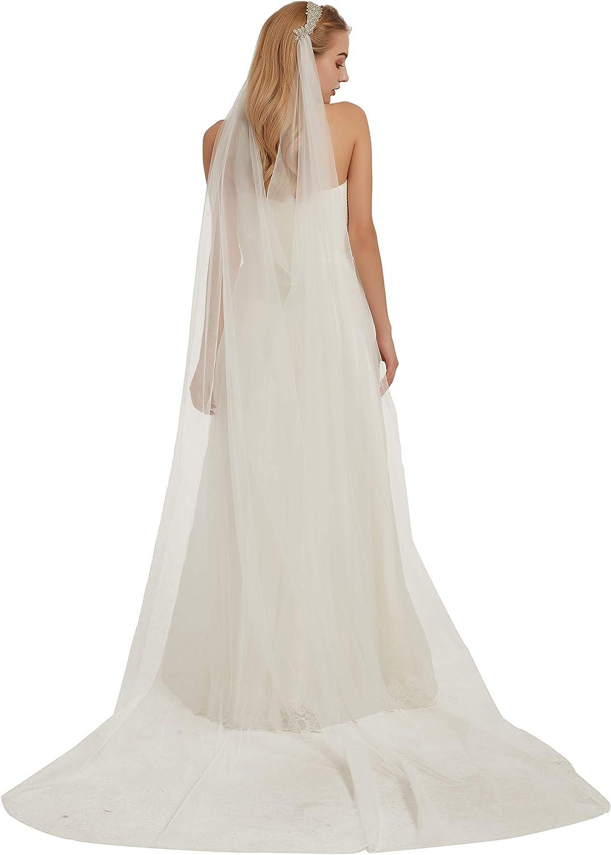 Bridal Veil with Headband Rhinestone Wedding Veil Long Bridal Veil with Rhinestones B023