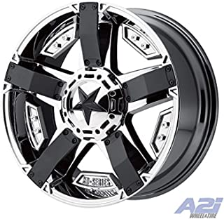 XD Series by KMC Wheels XD811 Rockstar II PVD Chrome with Matte Black Accents Wheel with Chrome Finish (20.00x9.00