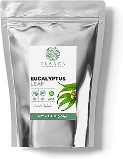 Eucalyptus Leaf 1 lb. (16 oz.), Contains ORGANIC Non-GMO Eucalyptus Tea in non-BPA Packaging, Eucalyptus Leaves Dried, Euc...