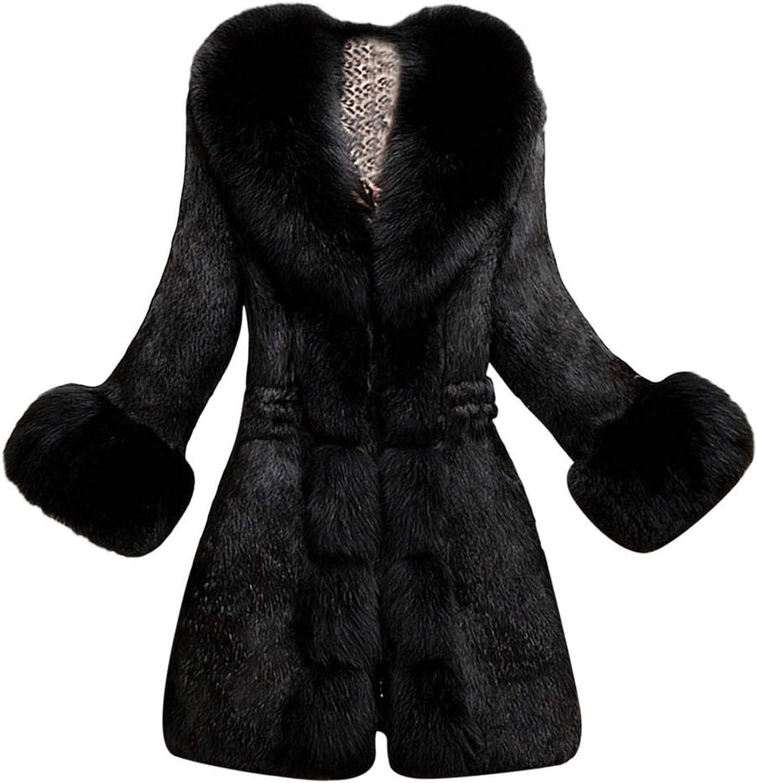 EnjoySexy Fashion Women 2018 Winter Clothes Women Faux Fur Coat Elegant Thick Warm Outerwear Long Jacket
