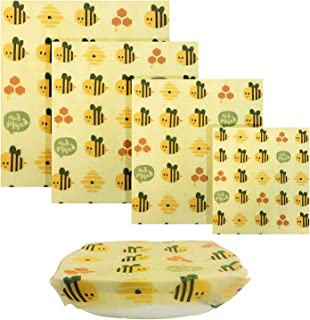 UGOS Organic Beeswax Food Wraps - Reusable Bees Wax Paper Wrap, Assorted 4 Pack Extra Small, Small, Medium, Large