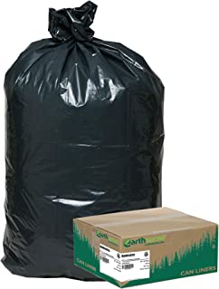 Earthsense Commercial RNW4850 Recycled Can Liners, 40-45gal, 1.25mil, 40 x 46, Black (Case of 100)