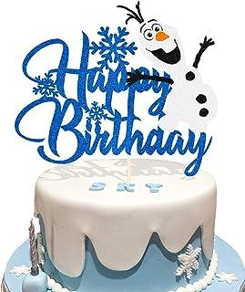 Creative Party F031 Snowman Plastic Cake Topper Picks-120 Pcs
