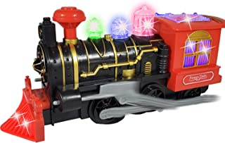 ANJ Kids 2019 Holiday Toys - Battery Operated Train Toys for Kids - Bump N Go Locomotive Toy Train | Dual Action Modes, Flashing Colorful Lights and Playing Realistic Train Running Sound Effects