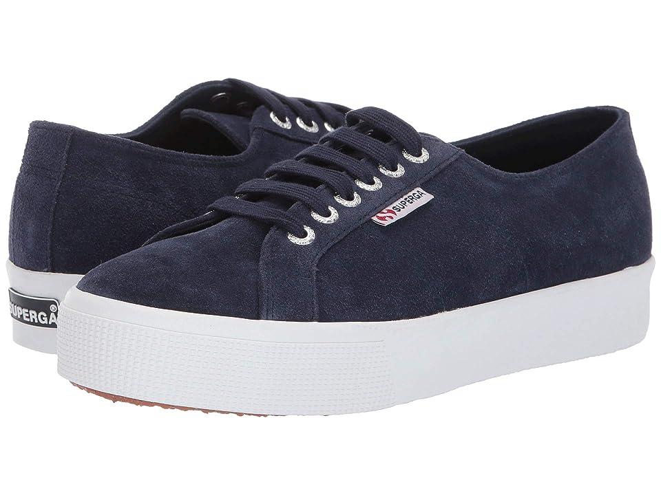Superga 2730 Sueu Sneaker (Blue Deep Sea) Women
