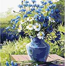 DIY Paint by Numbers, DELFINO Canvas Oil Painting Kit for Kids & Adults, Drawing Paintwork with Paintbrushes, Acrylic Pigm...