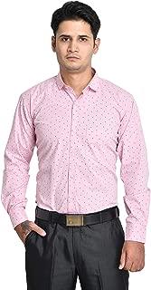 ANZEA Men Regular Fit 100% Cotton Printed Formal Shirt