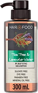 Hair Food Sulfate Free Shampoo Dye Free Purifying Treatment Tea Tree and Lavender Water 300ml