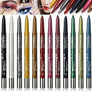 Waterproof Eyeliner, 12 Color Eyeliner, Eye Shadow Pencil, Eyebrow Pencil, Lip Liner, Multifunctional Color Painting Cosmetic Tool. (12Pcs)