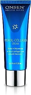 Onsen Rejuvenating Hydrol Collagen Cream Anti Aging Elasticity Infusion Antioxidant Continuous Renewal Mask & Skin Collagen Enhancer Travel Size 0.85 fl. oz. (25 mL)