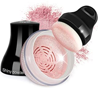 Proteove Blush Powder - Shimmery Loose Powder for Face Blusher, Handle Powder Puff Design, Lightweight & Glowing, Rosy