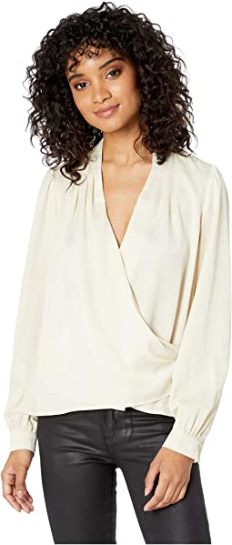 4e71dbdd85ce82 Astr the label wrap front long sleeve top